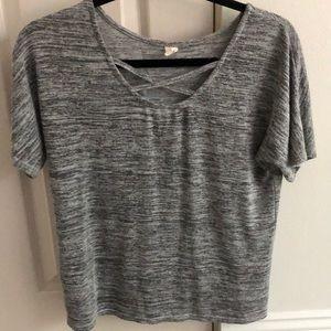 charcoal grey shirt